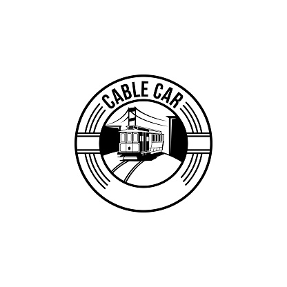 cable car stamp clip art