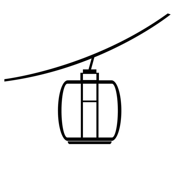Cable car symbol vector art illustration