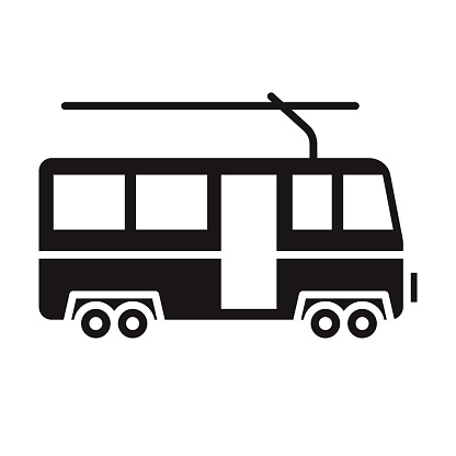 Cable Car Transportation Glyph Icon