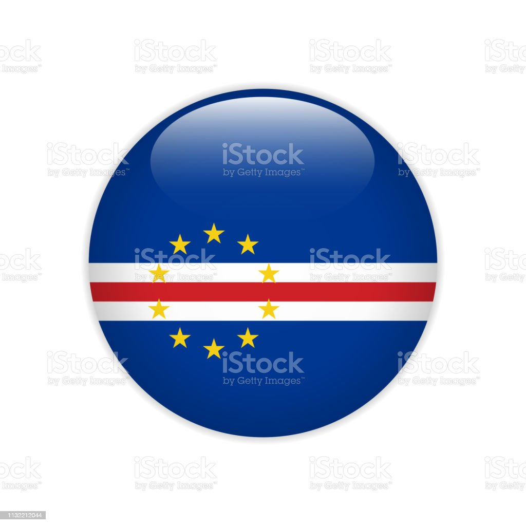 Cabo Verde Flag On Button Stock Illustration - Download Image Now