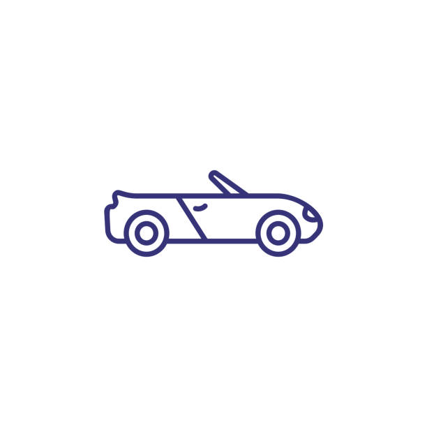 Cabriolet line icon Cabriolet line icon. Private car, automobile, convertible. Transport concept. Vector illustration can be used for topics like transportation, travel, vehicle convertible stock illustrations