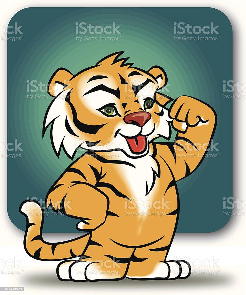 Cachorro tigre royalty-free stock vector art