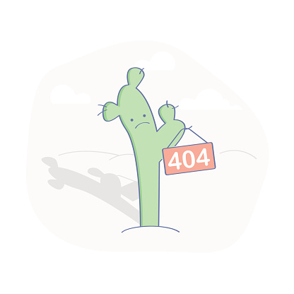 Cactus - 404 Error Page or File not Found icon.