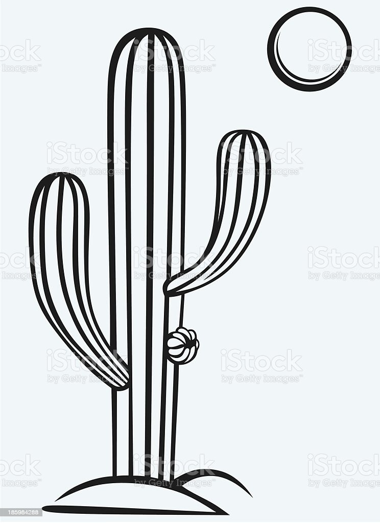 Cactus cartoon royalty-free stock vector art