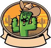 cactus cowboy cartoon