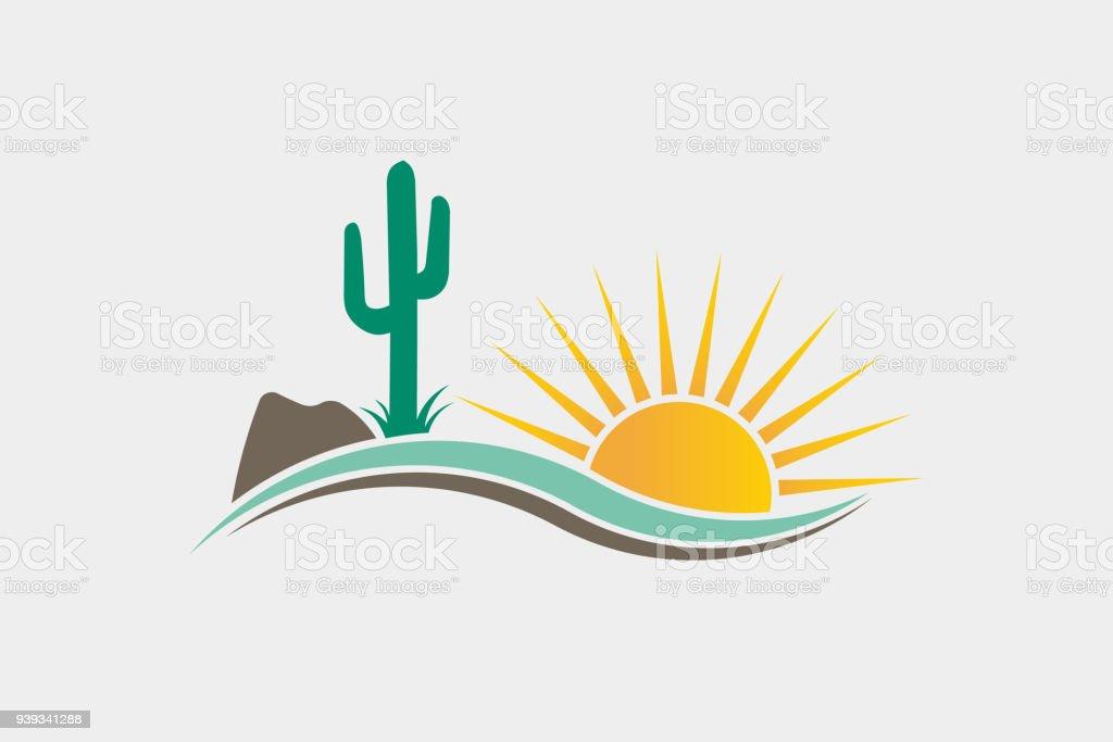 Cactus Desert Western icon Illustration royalty-free cactus desert western icon illustration stock illustration - download image now