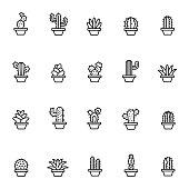 Cactus icon set