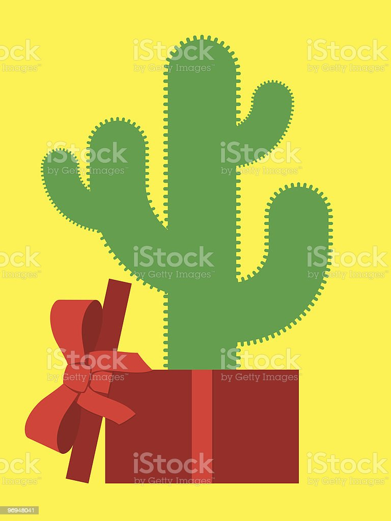 Cactus in parcel royalty-free cactus in parcel stock vector art & more images of box - container