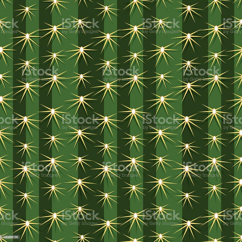 Cactus plants texture seamless pattern background vector art illustration