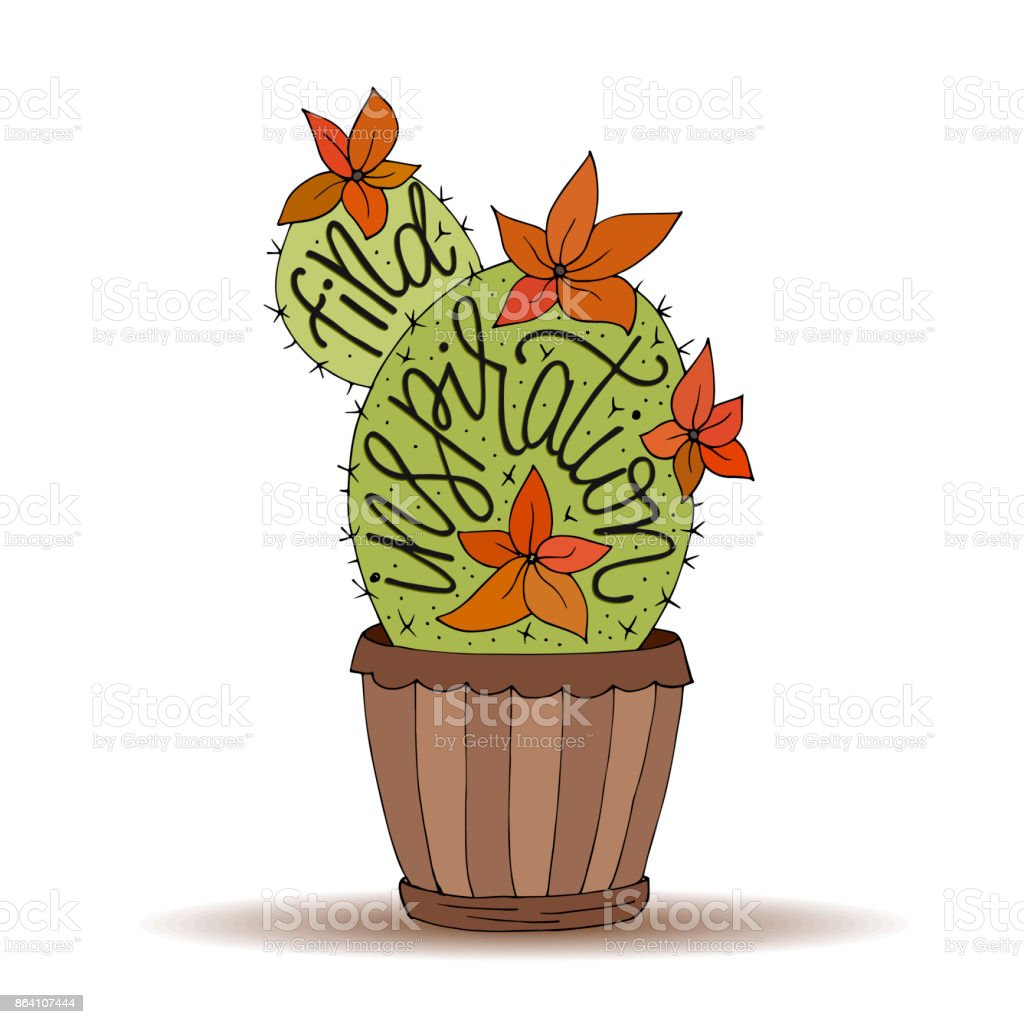Cactus succulents vector illustration with handdrawn lettering quote royalty-free cactus succulents vector illustration with handdrawn lettering quote stock vector art & more images of alphabet