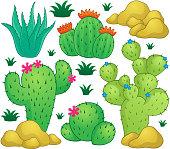 Cactus theme image 1 - eps10 vector illustration.