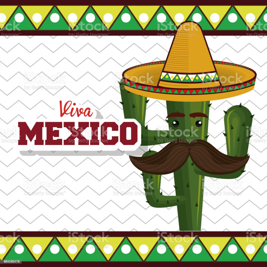 cactus with hat moustache mexican graphic royalty-free cactus with hat moustache mexican graphic stock vector art & more images of art