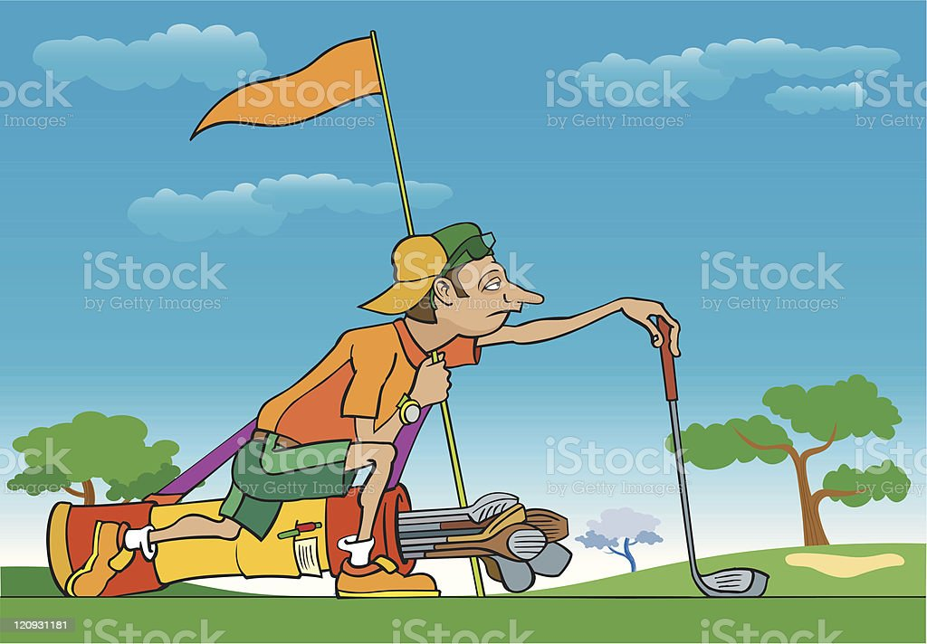Caddy working hard royalty-free caddy working hard stock vector art & more images of activity