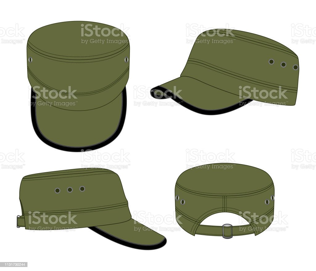Cadet Cap Design Vector Stock Illustration - Download Image Now