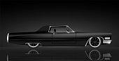 Cadillac Coupe de Ville color black background illustration