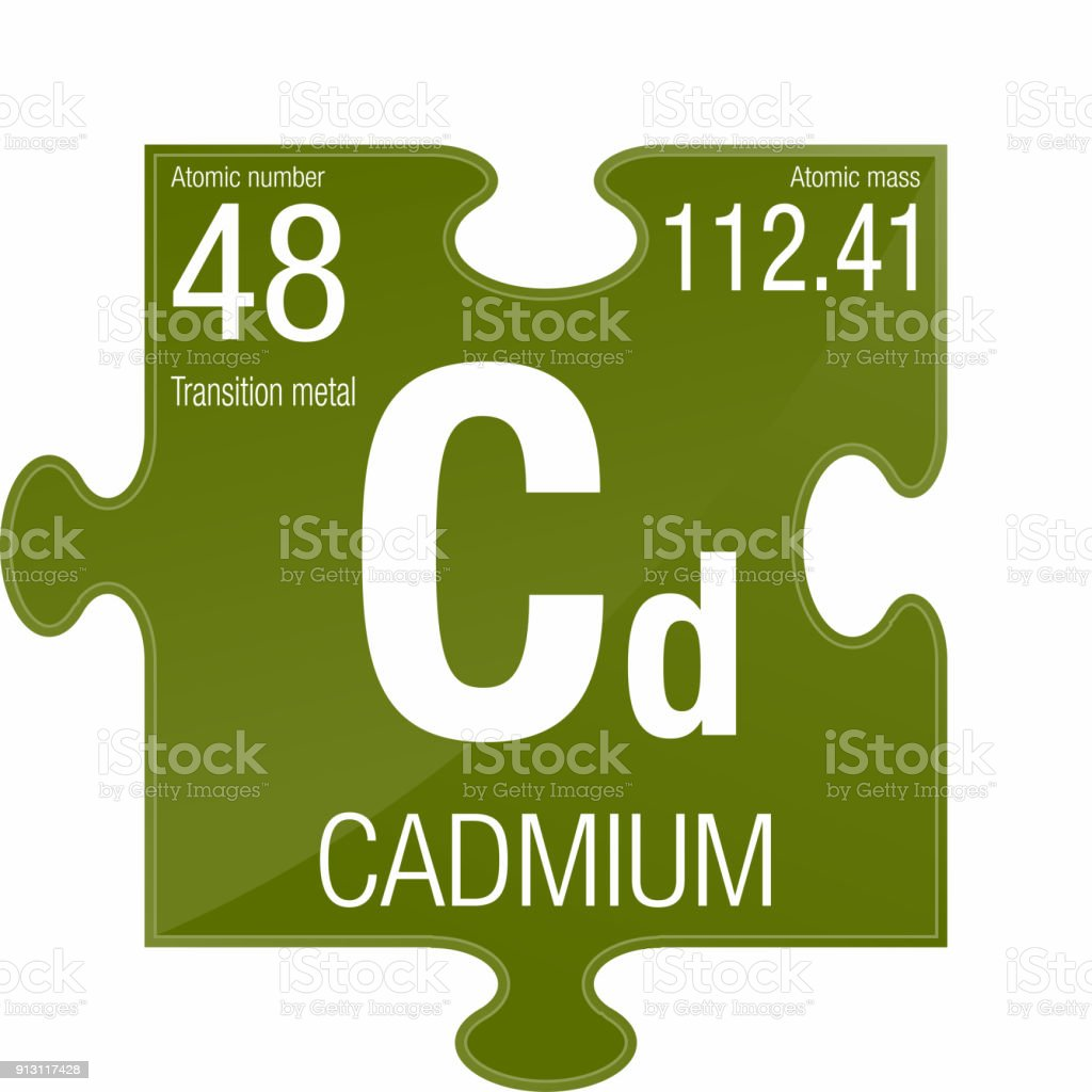 Cadmium Symbol Element Number 48 Of The Periodic Table Of The