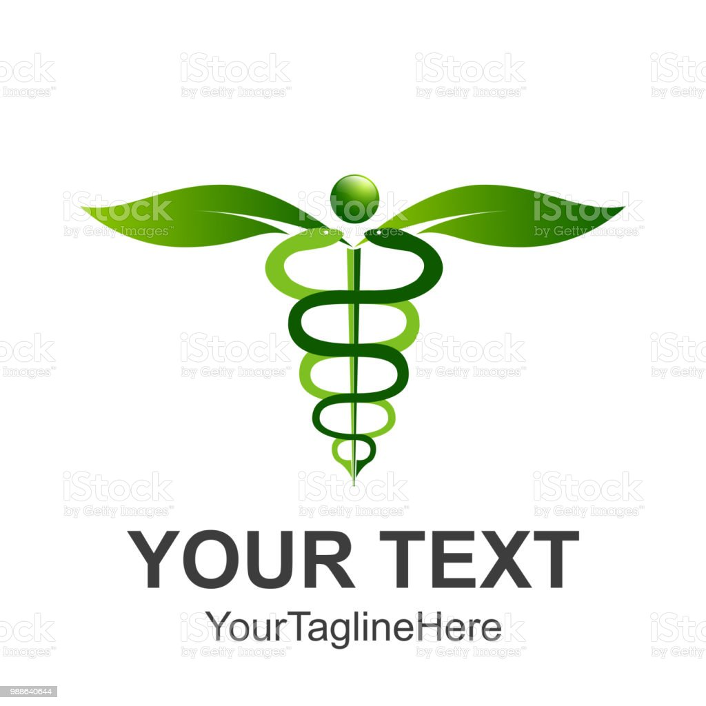 Caduceus Medical Symbol Or Symbol For Commerce Featuring Intertwined