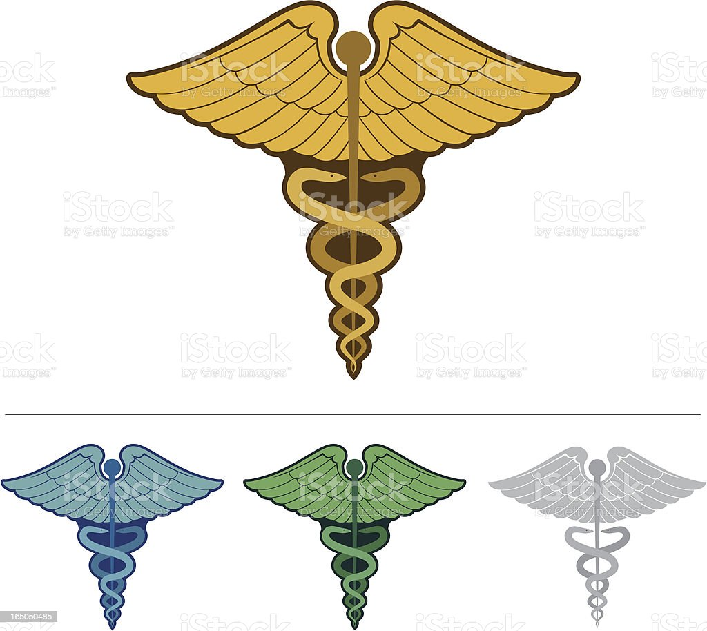 Caduceus - medical symbol royalty-free stock vector art