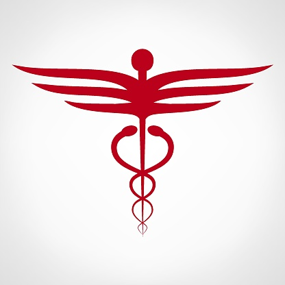 ヘルメスの杖医療シンボルマーク - イラストレーションのベクターアート素材や画像を多数ご用意