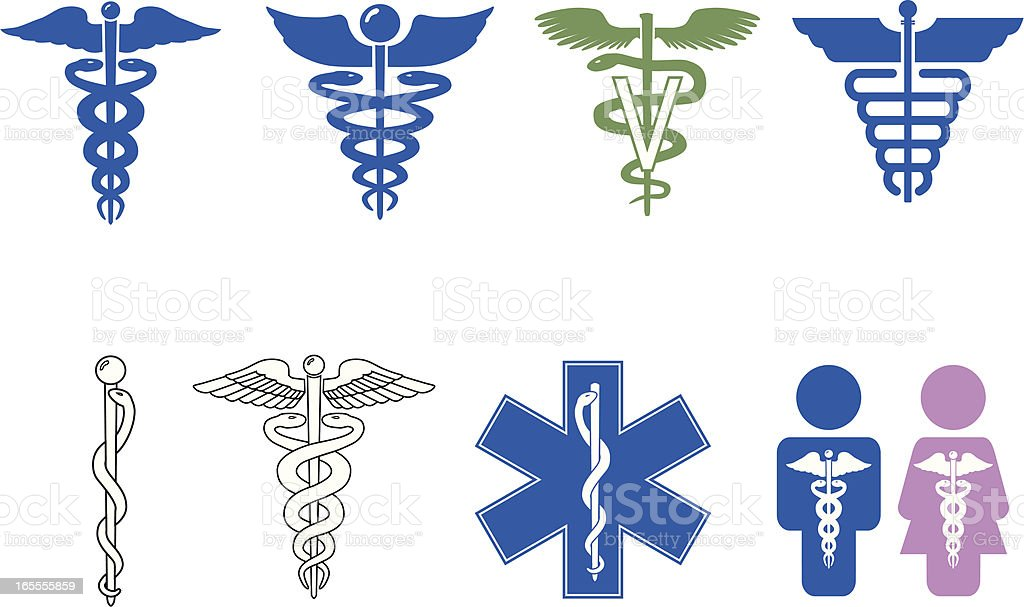 Caduceus Symbol Series royalty-free caduceus symbol series stock vector art & more images of accidents and disasters