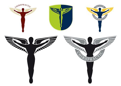 caduceus vector icon as symbol for chiropractors