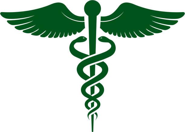 ilustraciones, imágenes clip art, dibujos animados e iconos de stock de caduceo - logos de médico