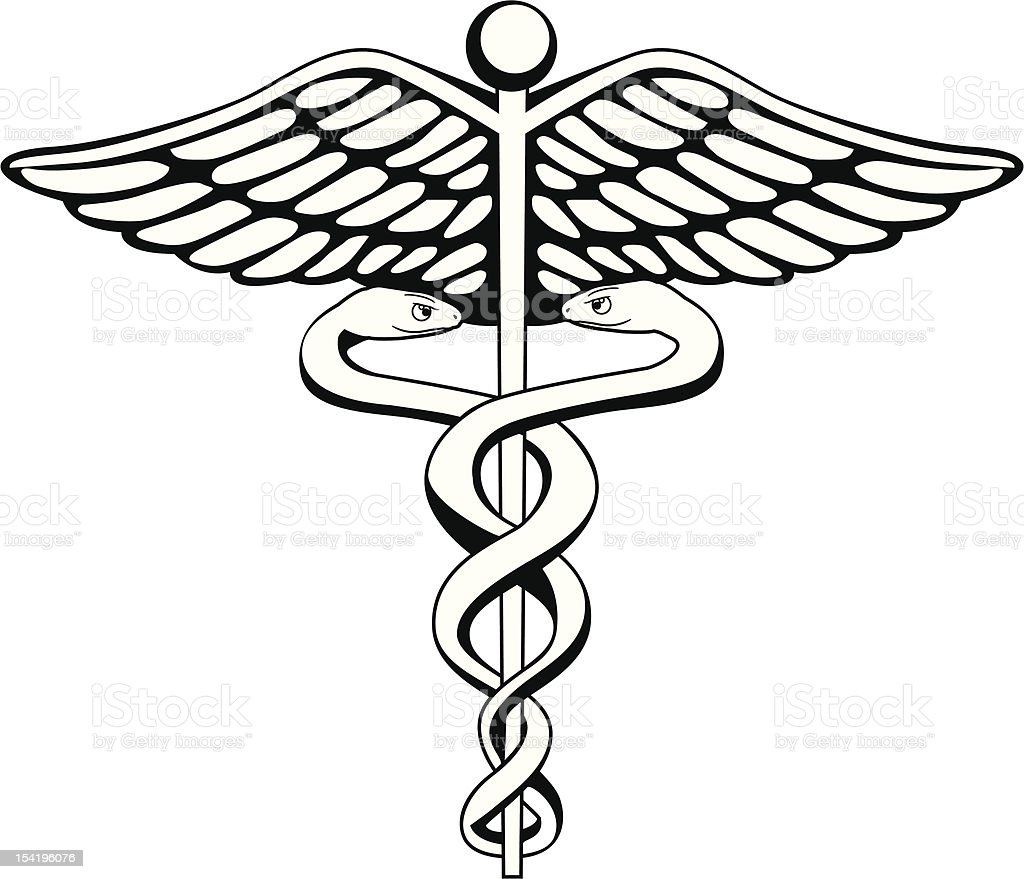 caduceus stock vector art more images of caduceus 154196076 istock rh istockphoto com Caduceus Image Free caduceus logo vector free