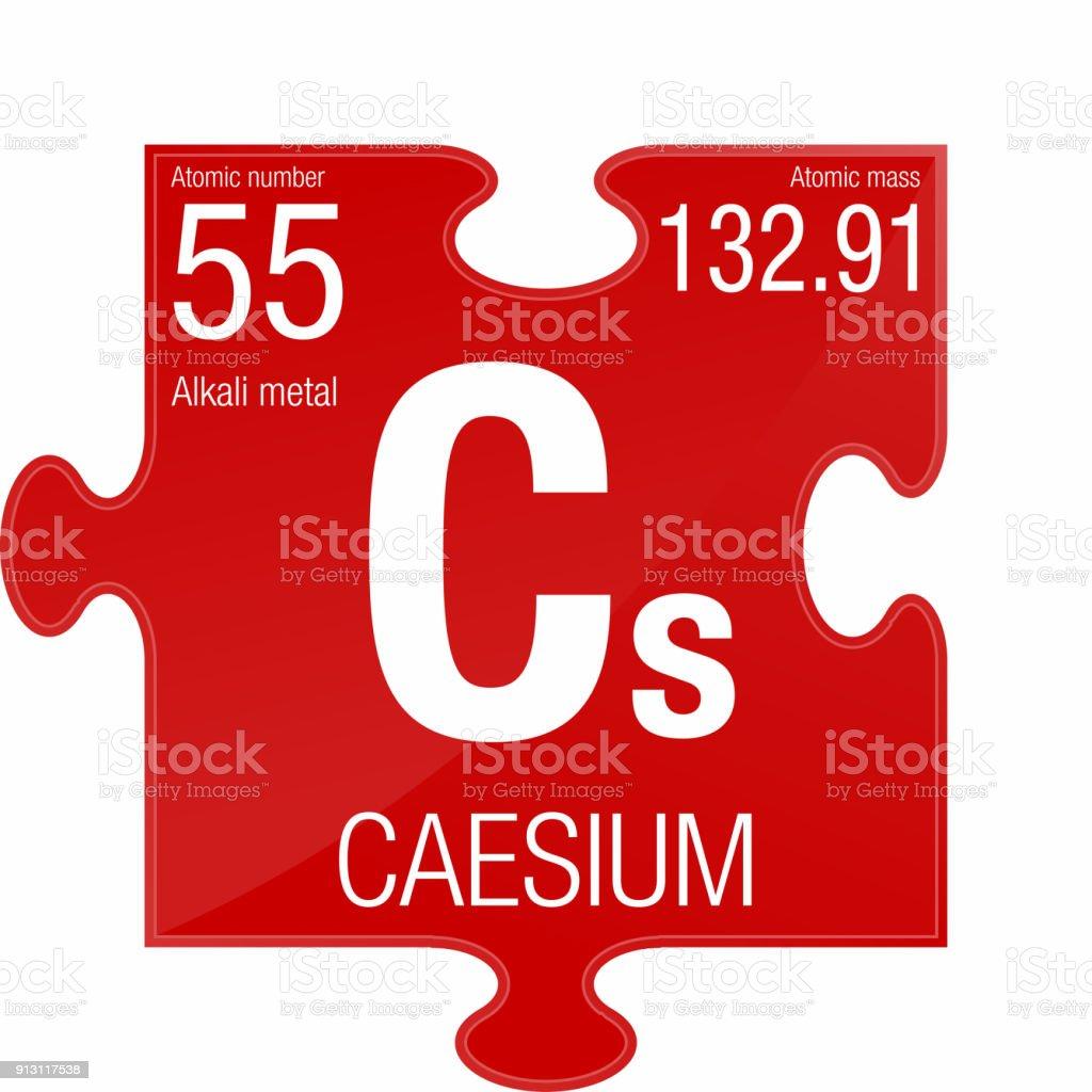 Caesium symbol element number 55 of the periodic table of the caesium symbol element number 55 of the periodic table of the elements chemistry royalty urtaz Gallery