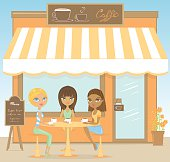 Three friends at the cofeeshop, more carachters:  http://www1.istockphoto.com/file_thumbview_approve/7413360/3