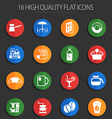 cafe vector icons for web and user interface design