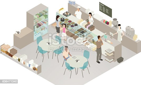 istock Cafe and bakery detailed illustration 636471340