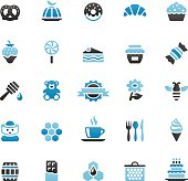 Quartico vector icons - Cafe and Sweet Food