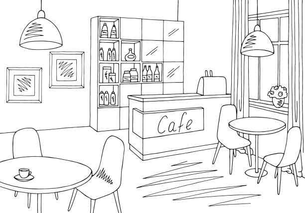 Best Cafe Interior Illustrations, Royalty-Free Vector ...