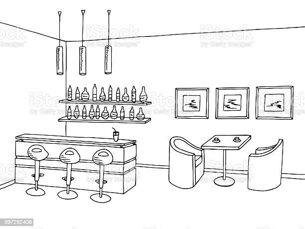 Cafe bar interior graphic art black white sketch illustration vector vector id597262406?b=1&k=6&m=597262406&s=612x612&h=h9oivqhxwwchaxluipi2sedn slrxmqxkznbqdpmkfi=