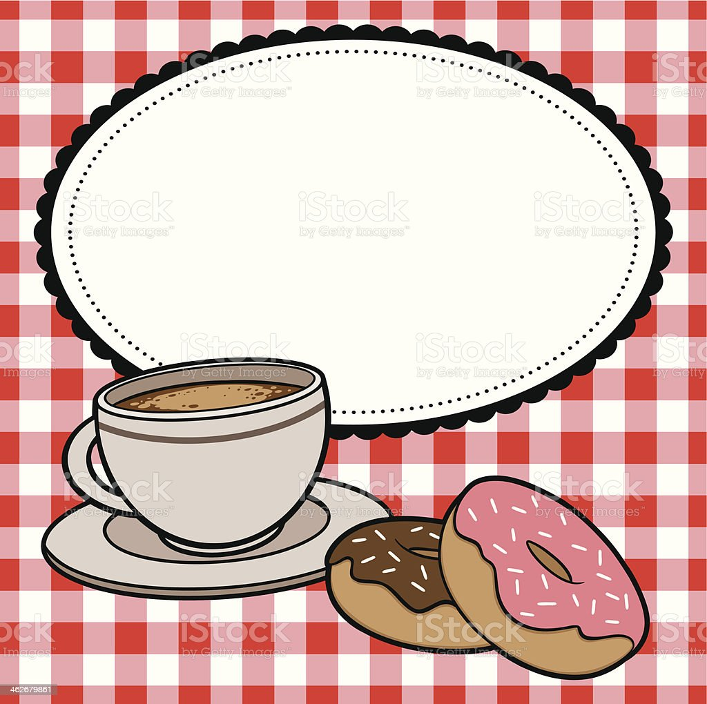 Cafe Coffee and Donuts royalty-free stock vector art