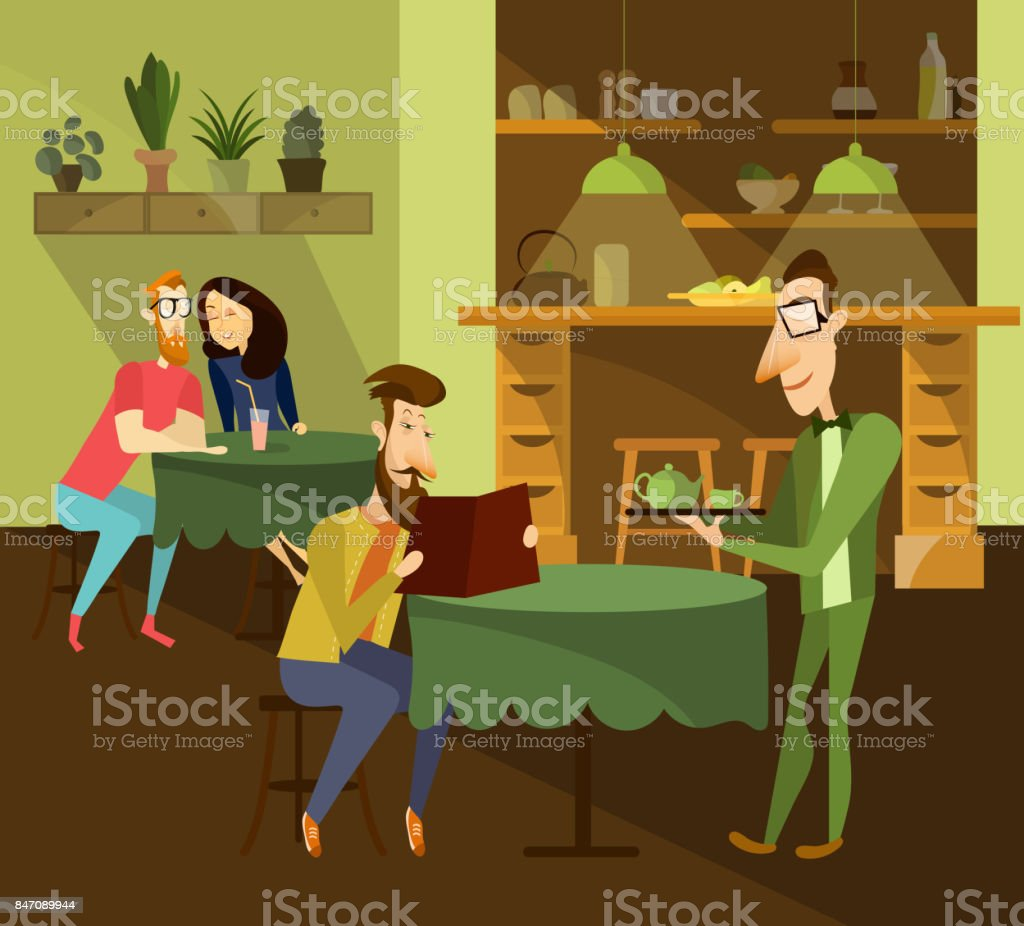 Cafe Concept Vector Illustration Stock Illustration - Download Image Now