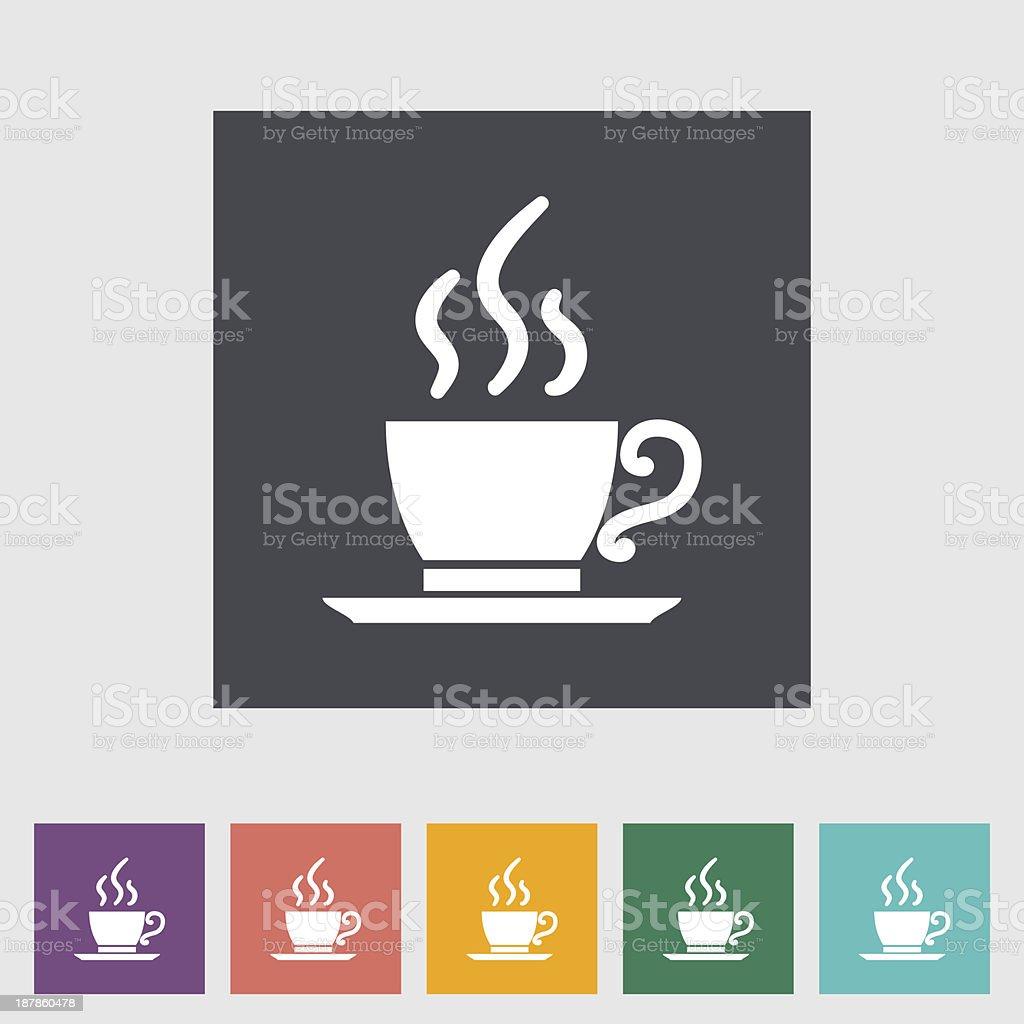 Cafe flat single icon. royalty-free stock vector art