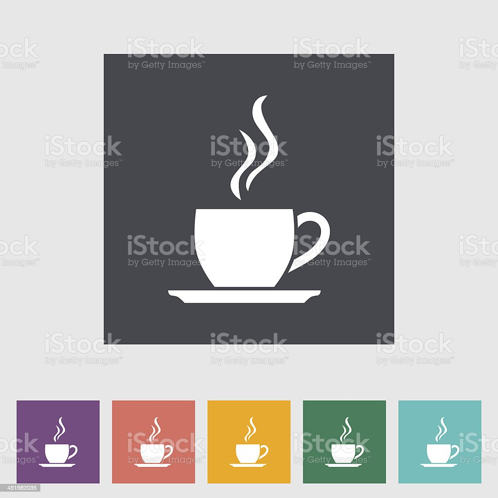 Cafe flat single icon. vector art illustration