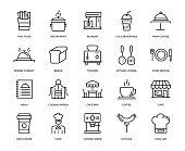 Cafe Icon Set - Thin Line Series