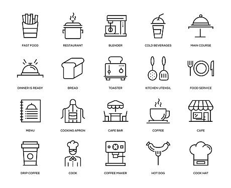 Cafeiconset Stock Vektor Art und mehr Bilder von Architektur