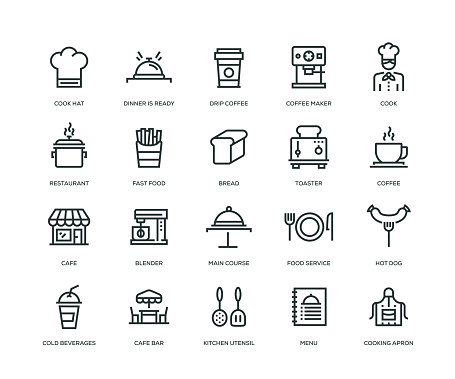 Cafe Icons - Line Series