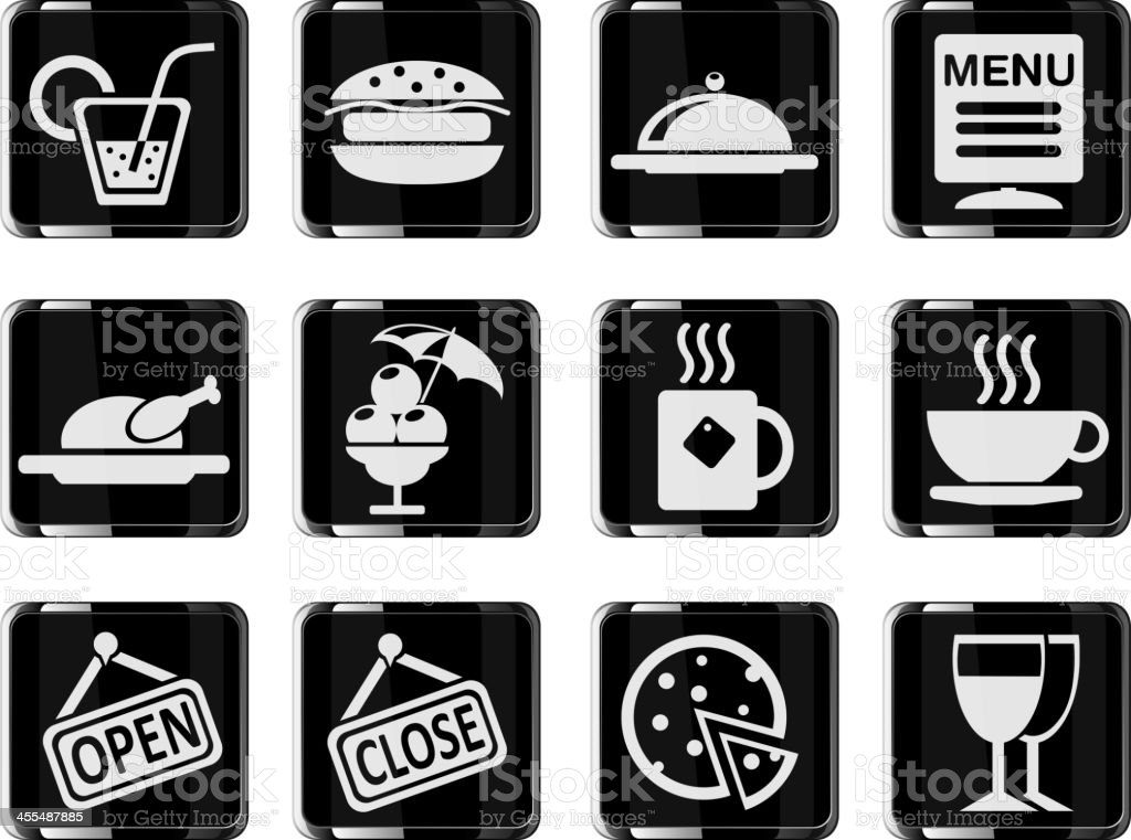 Cafe Icons royalty-free stock vector art