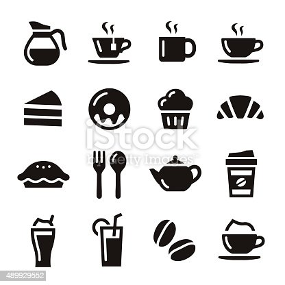 istock Cafe icons 489929552