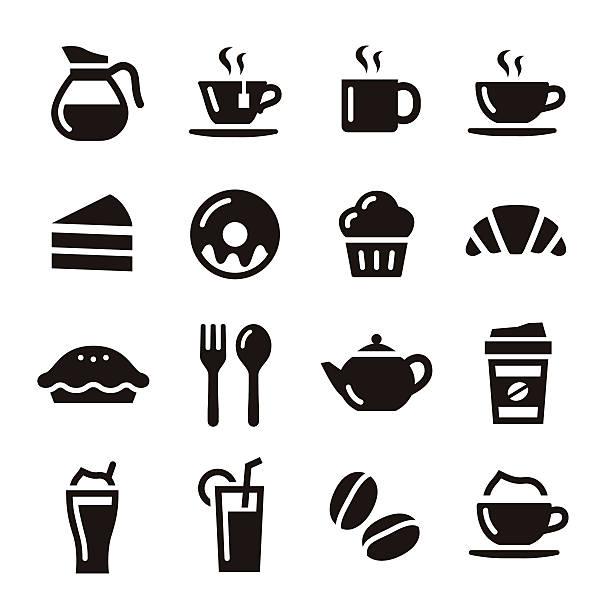 "café ""icons - cafe stock-grafiken, -clipart, -cartoons und -symbole"
