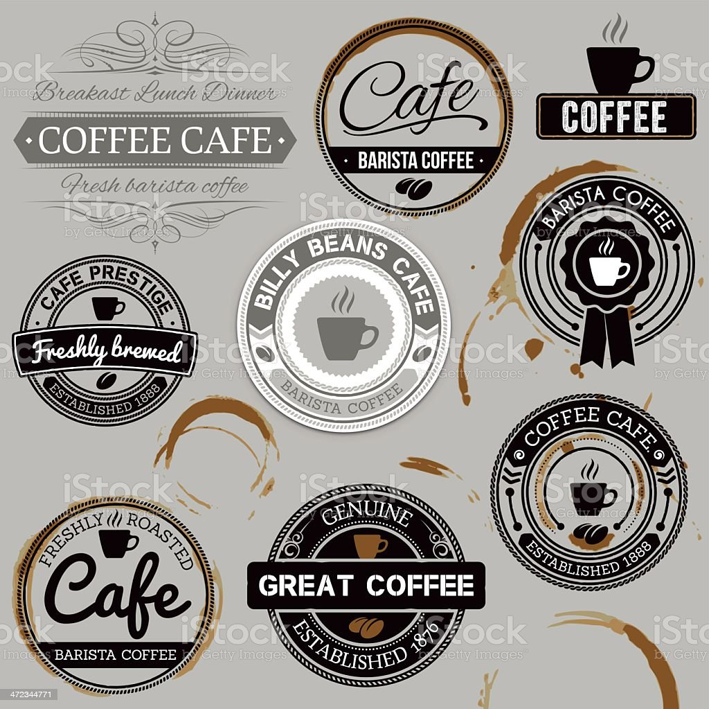 Cafe labels royalty-free cafe labels stock vector art & more images of agreement