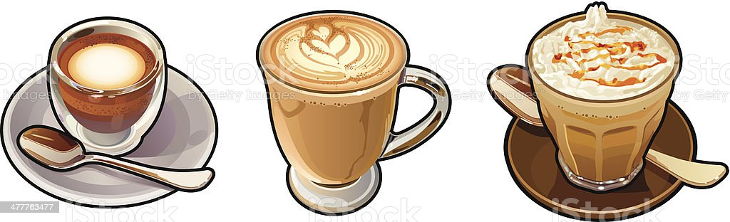 Cafe Latte royalty-free cafe latte stock vector art & more images of black coffee