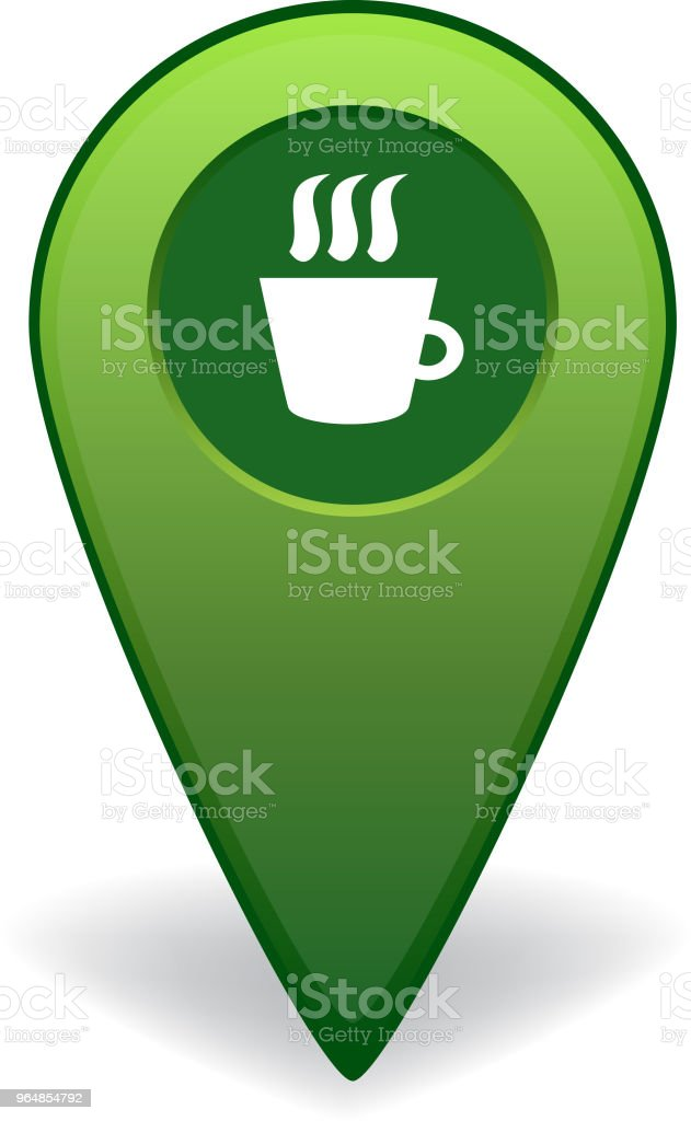Cafe map pointer for GPS navigation royalty-free cafe map pointer for gps navigation stock vector art & more images of advice