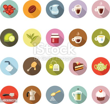 Modico icons collection - Cafe, Coffee and Tea.