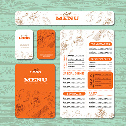Cafe or restaurant identity template