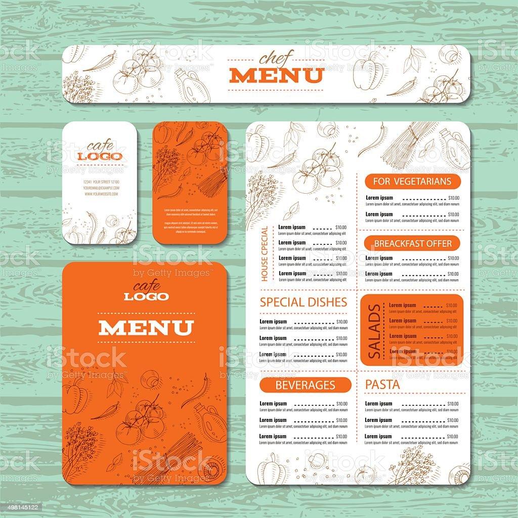 Cafe or restaurant identity template vector art illustration